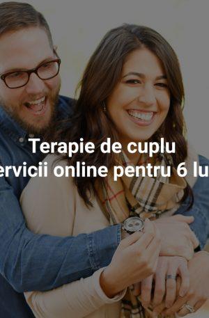 Terapie de cuplu – pachet de servicii online pentru 6 luni