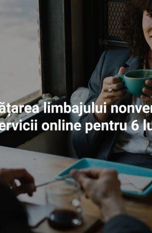 Învățarea limbajului nonverbal – pachet de servicii online pentru 6 luni