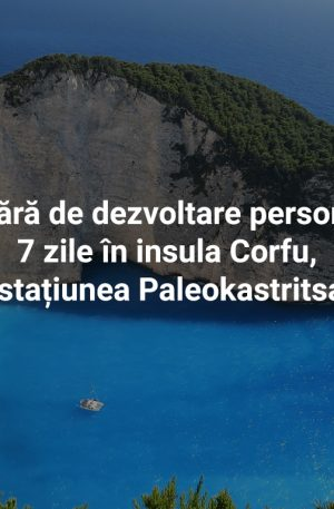 Tabără de dezvoltare personală 7 zile în insula Corfu, stațiunea Paleokastritsa